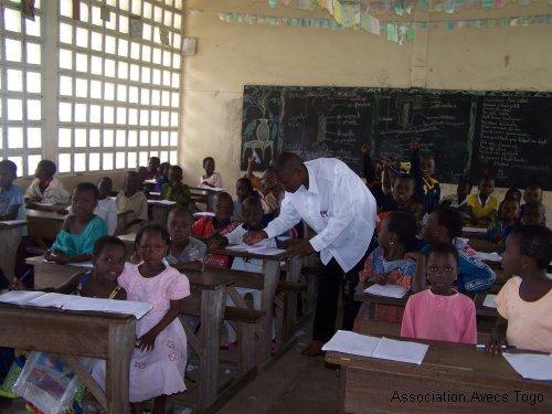 Une classe togolaise de niveau primaire